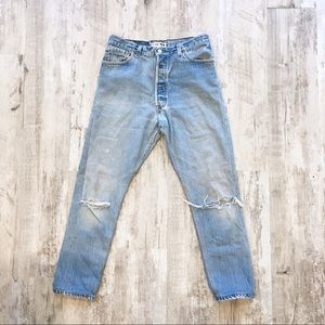 Re/Done Levi's High Rise Distressed Jeans, 27 / 28